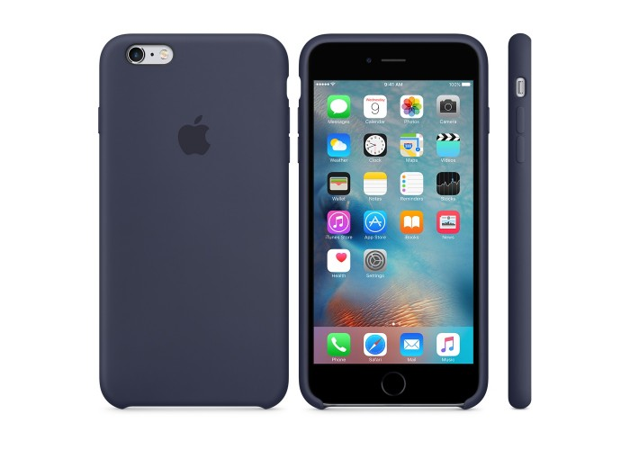 Силиконовый чехол Apple Silicon Case Midnight Blue для iPhone 6 Plus/6s Plus (копия)