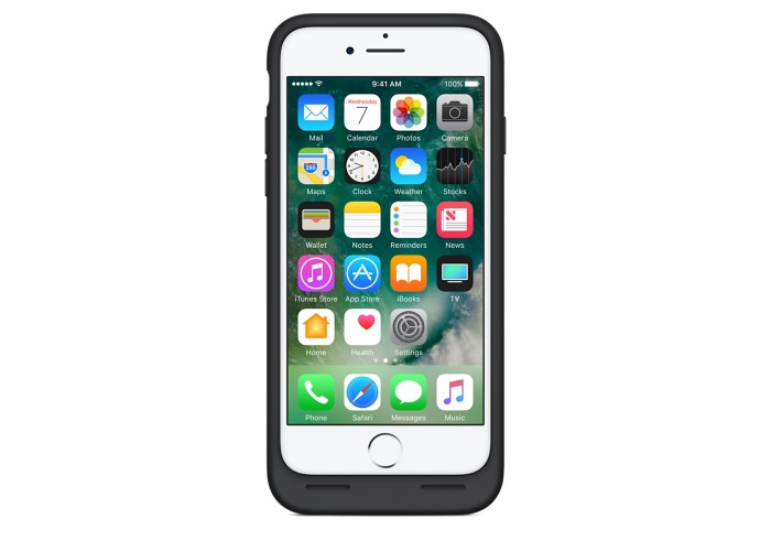 Силиконовый чехол iPhone 7/8 Smart Battery Case Black (MN002)