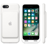 Силиконовый чехол iPhone 7 Smart Battery Case White (MN012)