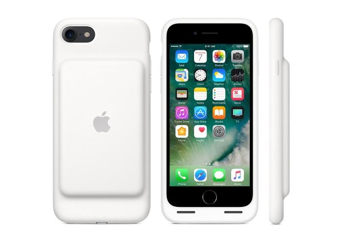 Силиконовый чехол iPhone 7 Smart Battery Case White (MN012)