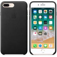 Кожаный чехол Apple Leather Case Black с металлическими кнопками для iPhone 7 Plus/ 8 Plus (копия)