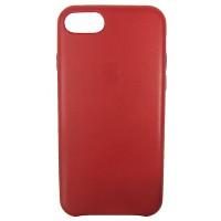 HandMade чехол из натуральной кожи для iPhone 7/8 с тиснение Apple красный