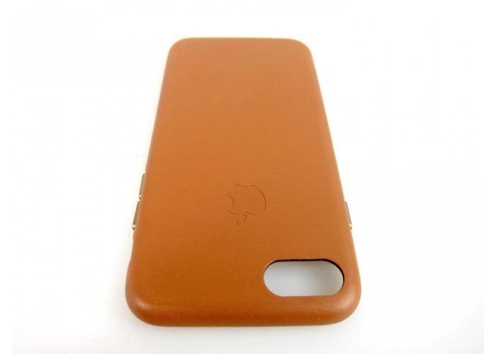 Люкс копия чехла Apple Leather Case Saddle Brown для iPhone 7/8