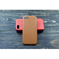 Люкс копия чехла Apple Leather Case Saddle Brown для iPhone 7/8
