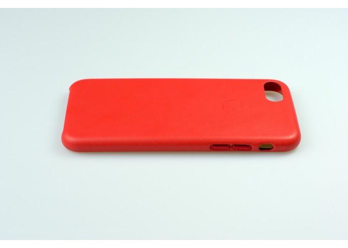 Люкс копия чехла Apple Leather Case Red для iPhone 7/8