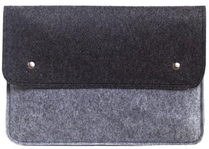 Чехол-конверт для Macbook Air 13,3 и Pro 13,3  черно-серый (GM05)