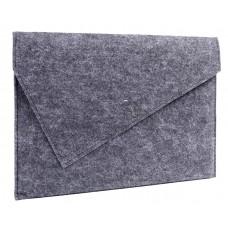 Серый чехол-конверт для MacBook Air 13,3 и Pro 13,3 (GM06)