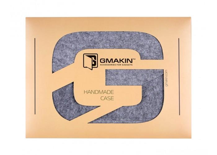 Светло-серый чехол-конверт для  Macbook Air 13,3 и Pro 13,3 (GM07)