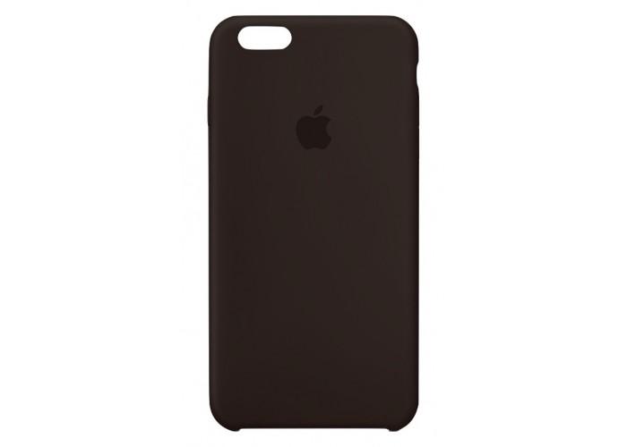 Силиконовый чехол Apple Silicone Case Dark Brown для iPhone 6 (копия)