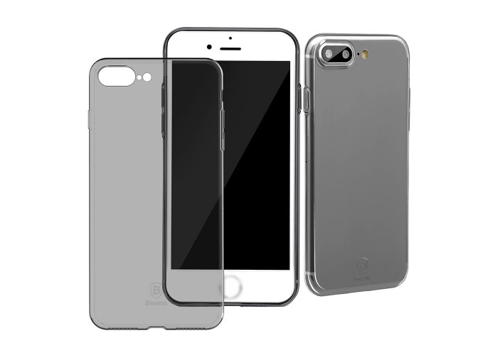 Супер-тонкий чехол Baseus Multy Protective Transparent-black для iPhone 7/8 plus