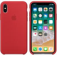 Силиконовый чехол Apple Silicone Case Red для iPhone X /10 (копия)