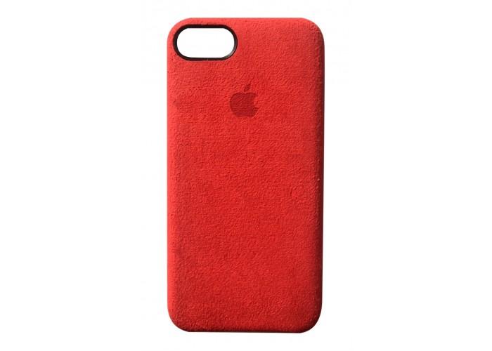 Премиум чехол Alcantara Cover Red (красный) для iPhone 7/8