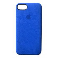 Премиум чехол Alcantara Cover Blue (Синий) для iPhone 7/8