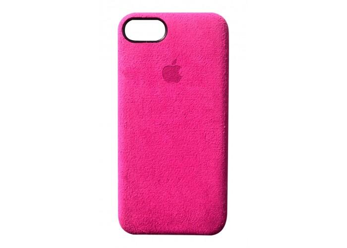 Премиум чехол Alcantara Cover Fuchsia (Розовый) для iPhone 7/8