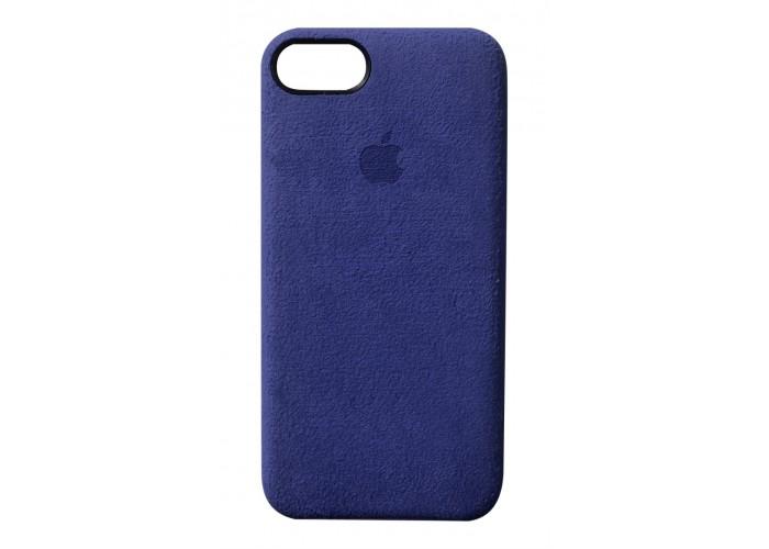 Премиум чехол Alcantara Cover Midnight Blue (Темно-синий) для iPhone 7/8