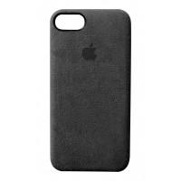 Премиум чехол Alcantara Cover Black (Черный) для iPhone 7/8