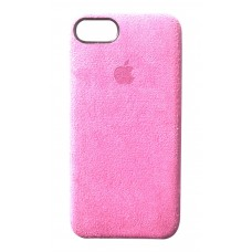 Премиум чехол Alcantara Cover Light Pink (Светло-розовый) для iPhone 7/8