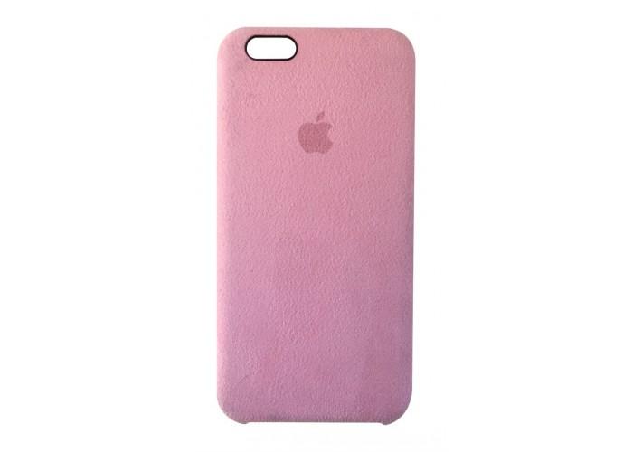 Премиум чехол Alcantara Cover Light Pink (Светло-розовый) для iPhone 6