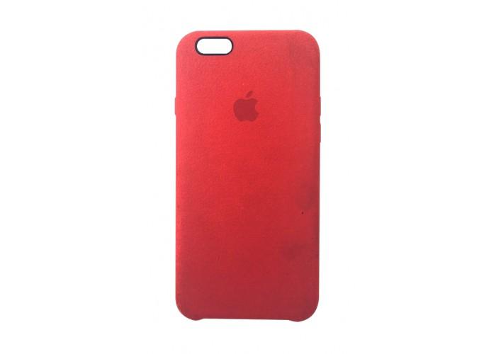 Премиум чехол Alcantara Cover Red (красный) для iPhone 6