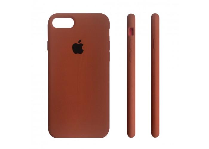 Силиконовый чехол Apple Silicon Case Cocoa (Коричневый) для iPhone 7/8 (копия)