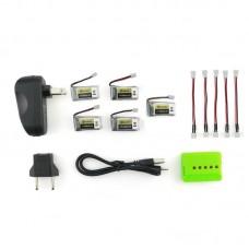 (5 шт) Аккумуляторы 260mAh 1S 45C для Eachine E013 + Зарядное устройство