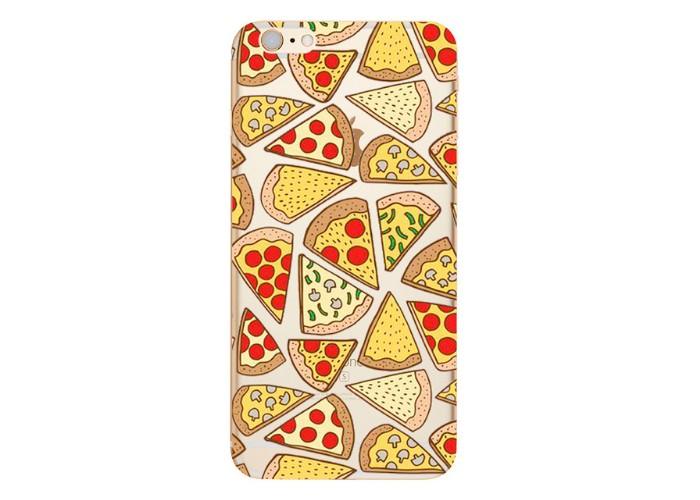 """Ультратонкий силиконовый чехол с принтом """"Пицца"""""""