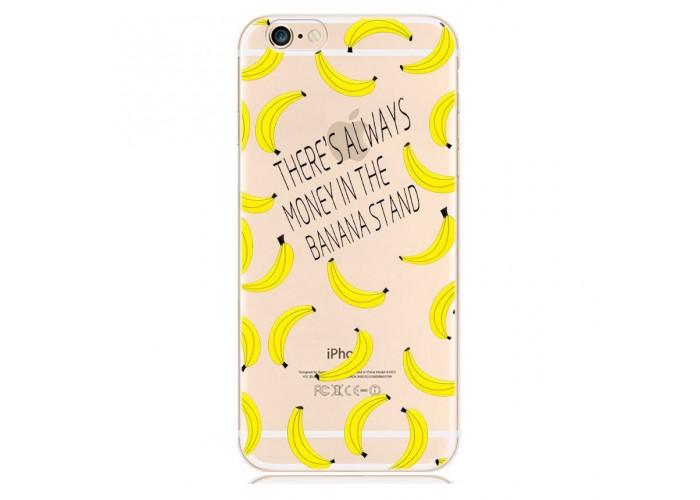 """Ультратонкий силиконовый чехол с принтом """"Бананы"""""""
