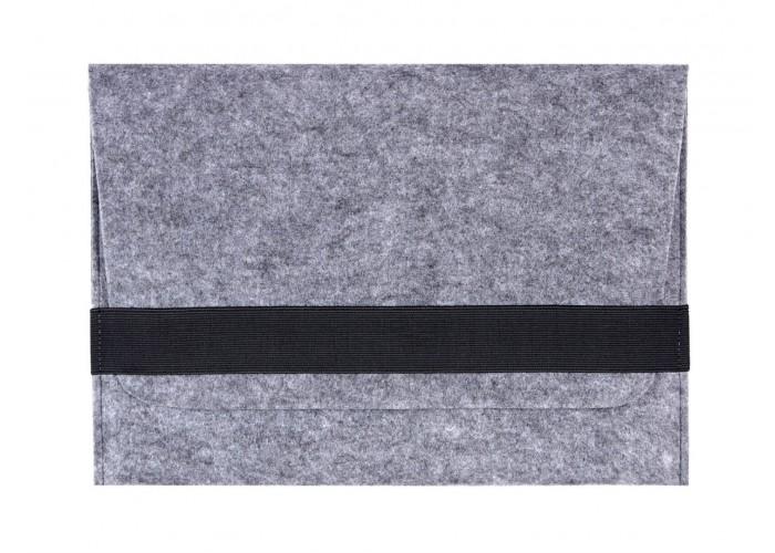 Светлый войлочный чехол-конверт для  Macbook Air 13,3 и Pro 13,3 горизонтальный (GM15)