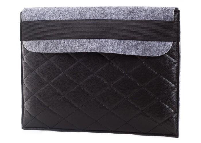 Чехол-конверт для Macbook Air 13,3 и Pro 13,3  фетр серый c резинкой (GM18)