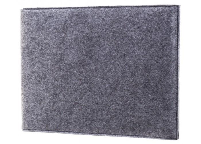 Чехол-конверт для Macbook  Air 13,3 и Pro 13,3 фетр серый c резинкой (GM20)