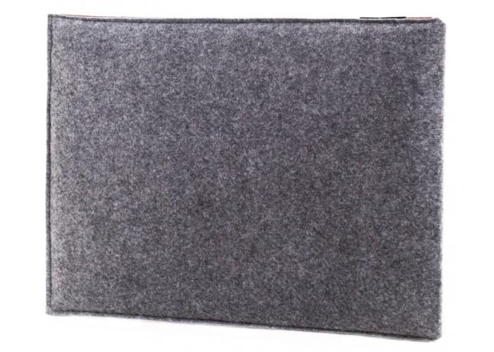 Коричневый чехол-конверт для Macbook Air  13,3 и Pro 13,3 фетр c резинкой (GM21)