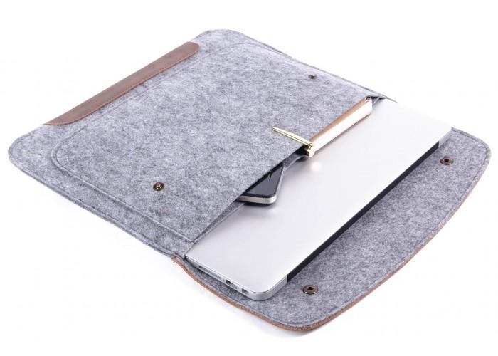 Чехол-конверт для Air 13,3 и Pro 13,3 коричневый на кнопках (GM45)