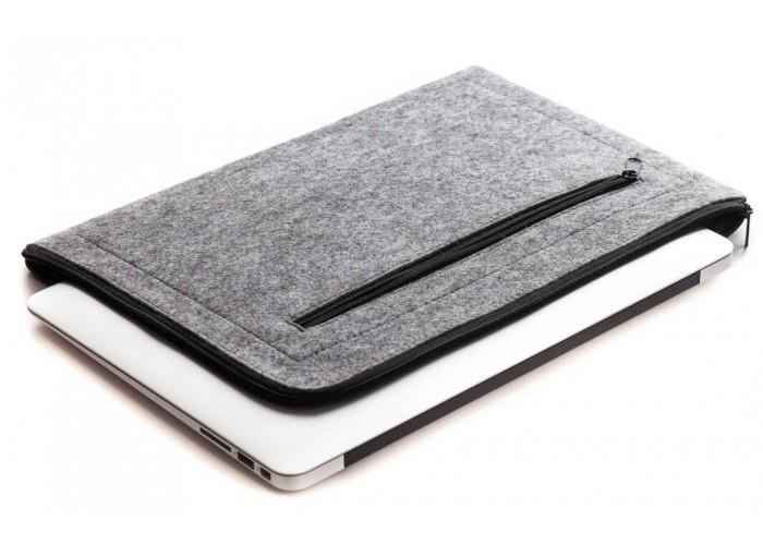 Светлый горизонтальный чехол на молнии  для Macbook Air 13,3 и Pro 13,3 (GM67)