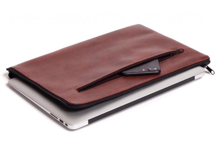 Коричневый горизонтальный чехол на молнии  для Macbook Air 13,3 и Pro 13,3 (GM69)