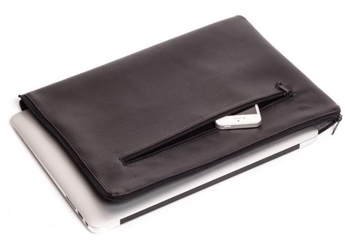 Черный горизонтальный чехол на молнии  для Macbook Air 13,3 и Pro 13,3 (GM70)
