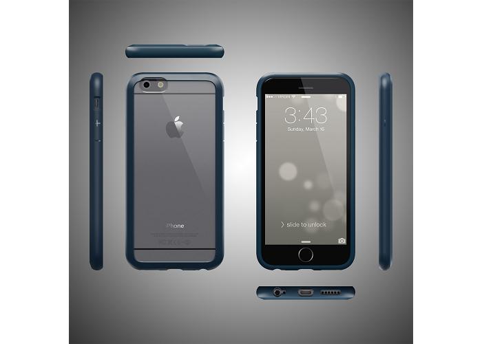 Прозрачный чехол COLORANT С1 Color Case Dark Blue (Темно-синий) PatchWork для iPhone 6/6s