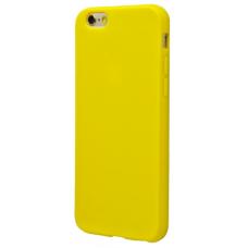 Силиконовый чехол для iPhone 6/6s глянцевый желтый