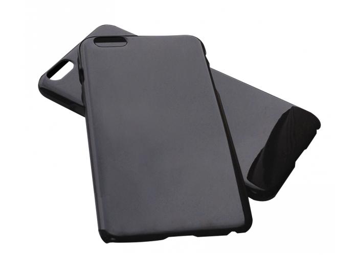 Силиконовый чехол для iPhone 6/6s глянцевый черный