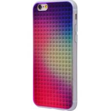 Чехол для iPhone 6/6s пластик+силикон 3D Gradient №2