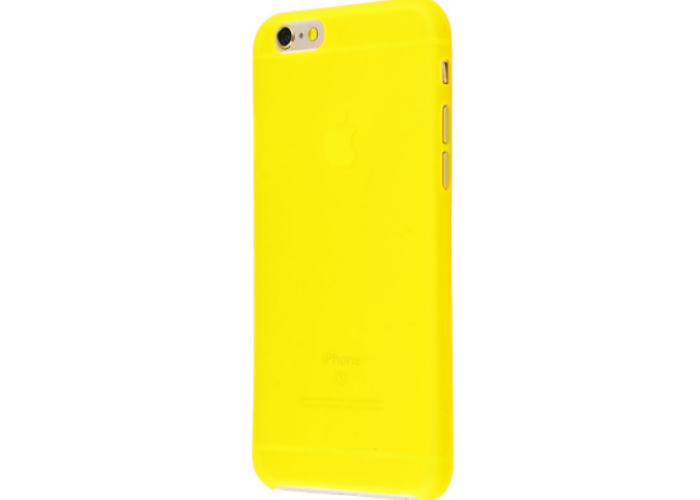 Чехол для iPhone 6/6s soft touch (XINBO) желтый