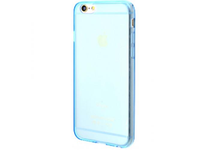 Силиконовый чехол для iPhone 6/6s глянцевый голубой