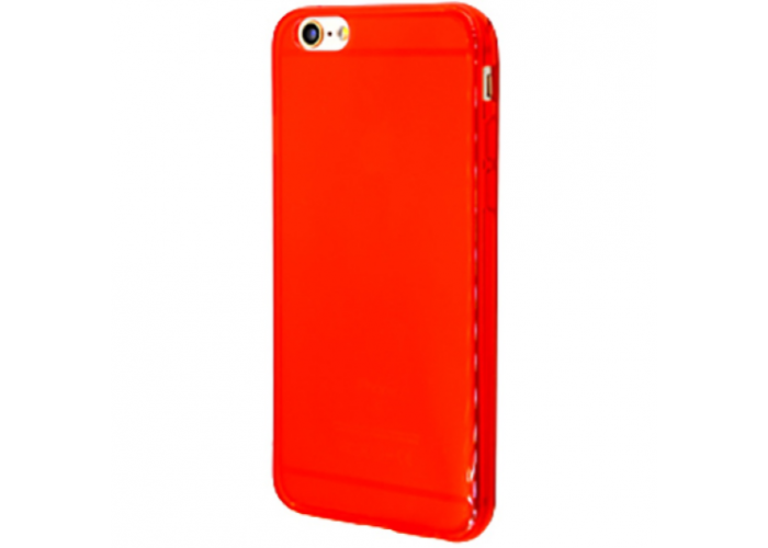 Силиконовый чехол для iPhone 6/6s глянцевый красный