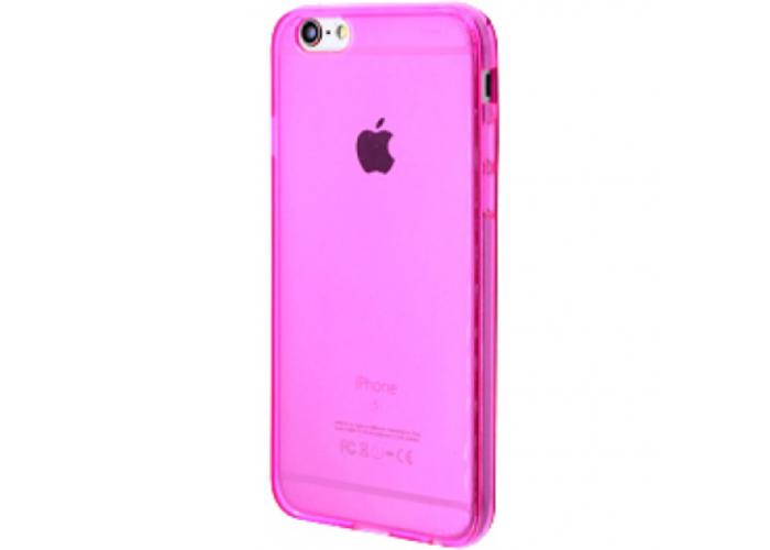 Силиконовый чехол для iPhone 6/6s глянцевый розовый