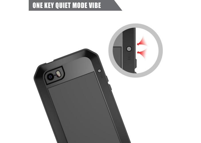 Чехол для iPhone 6/6s Lunatik Taktik Metal противоударный черный