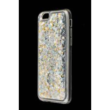 Чехол для iPhone 6/6s блестки вода серебряный
