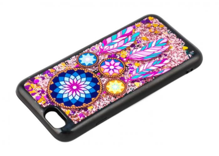 Чехол для iPhone 6/6s блестки вода амулет