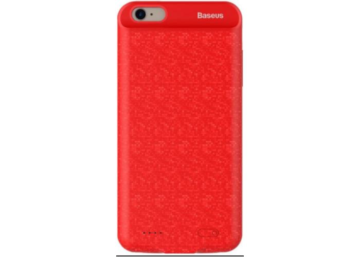 Чехол для iPhone 6/6s Baseus Plaid Backpack Power Bank Case 2500 mAh красный