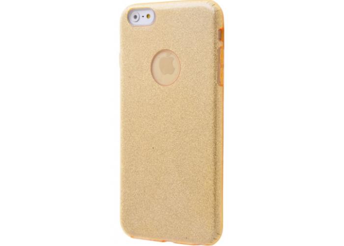 Чехол для iPhone 6/6s Shining Glitter Case с блестками золотой