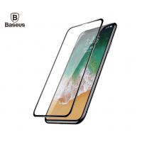 Защитное стекло Baseus 0.23mm Silk-screen Tempered Glass Film для iPhone X/10