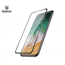 Защитное стекло Baseus 0.23mm Silk-screen Tempered Glass Film для iPhone X/10